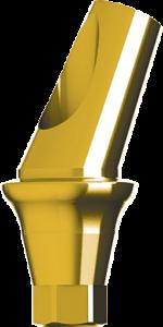 Анатомический титановый абатмент угловой 25°, конусный