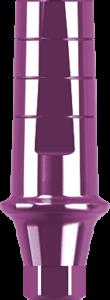 Антиротационный титановый абатмент с уступом прямой, конусный